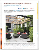 The Outsider: Outdoor Living Room in Fort Greene